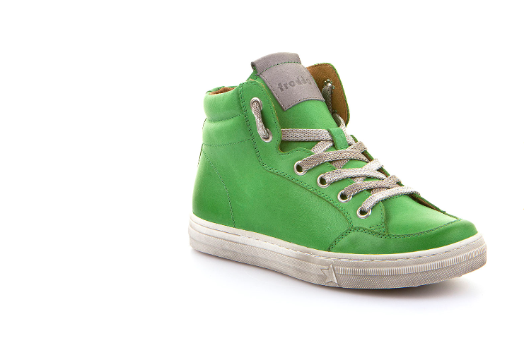Froddo Green Leather Side Zipper High Top Sneaker G3110123