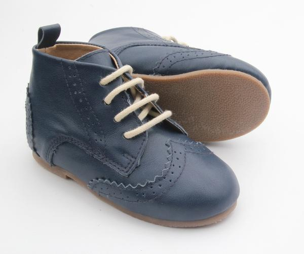 Anchor and Fox Navy Cambridge Brogue