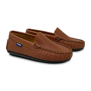Atlanta Moccasin Tan Ribbed Loafer 18522