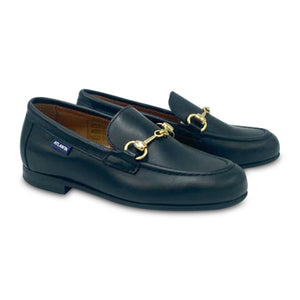 Atlanta Mocassin Black Matte Buckle Loafer 19014