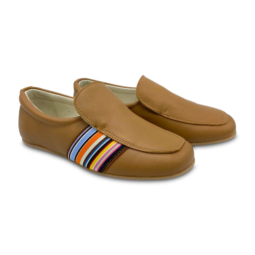 Sonatina Rufas Cognac Striped Loafer