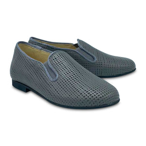 Andanines Grey Perforated Smoking Shoe 182447-21
