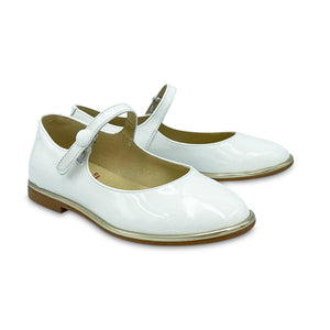 Blublonc Clara White Patent Mary Jane