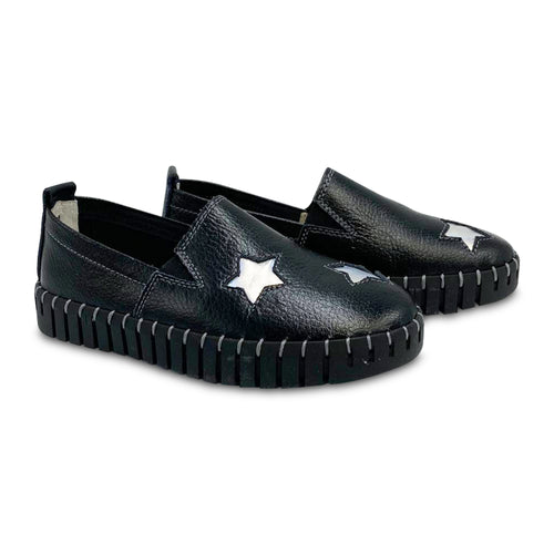 Bernie Mev Black Star Slip-on Sneaker TWK37