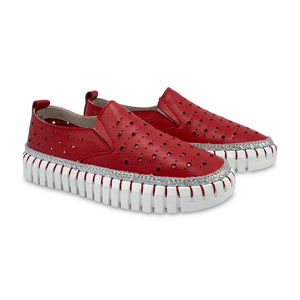 Bernie Mev Red Slip-on Sneaker TWK40