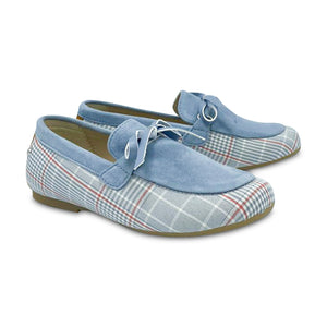 Manuela De Juan Light Blue Sky Barry Slip On S2978