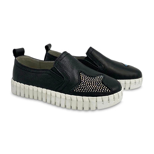 Bernie Mev Black Star Slip-on Sneaker TWK110