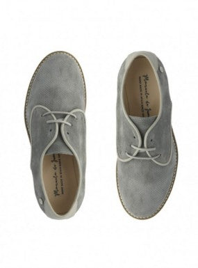 Manuela Grey Suede Oxford Lace Dress Shoe s2569