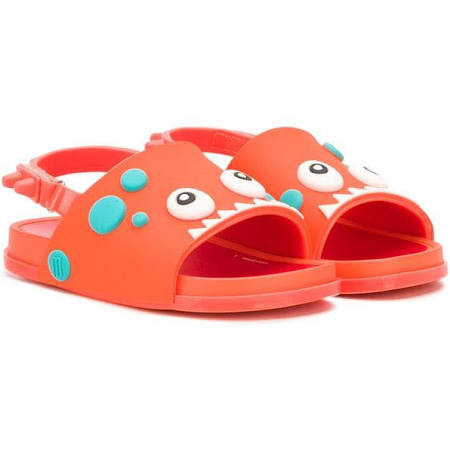 Mini Melissa Orange Little Kids Monster Sandal