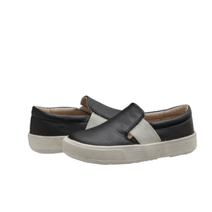 Oldsoles Black Elastic Slip On Sneaker 6084