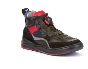 Froddo Black Red No Tie High Top Sneaker G3110145