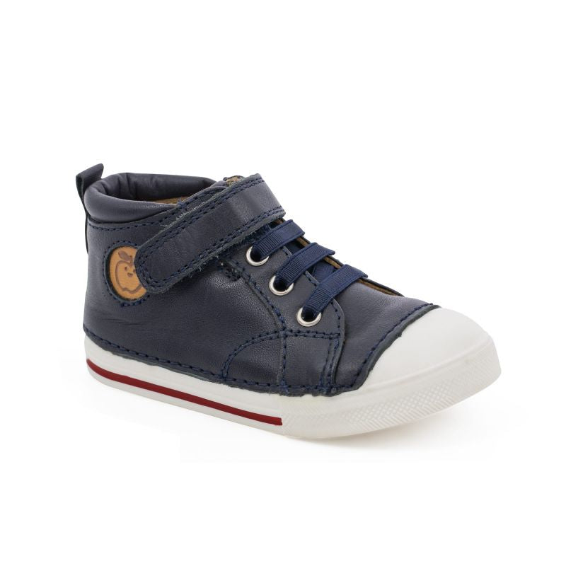 Shoo Pom Oki Pad Lace Nappa Navy Soft Sole First Walker