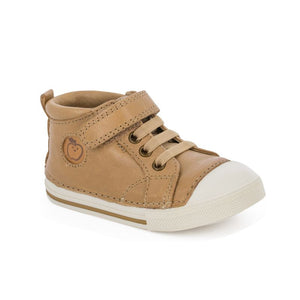 Shoo Pom Oki Pad Lace Camel Flexible Sole First Walker