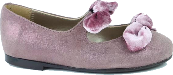 Papanatas Lavendar Leather Double Bow Slip On 6927X