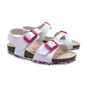 Garvalin White Pink Buckle Sandal 202663