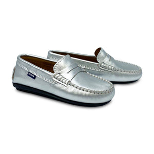 Atlanta Moccasin Silver Penny Loafer 18380