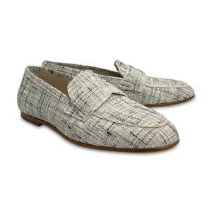 HOO Silver Plaid Shimmer Penny Loafer