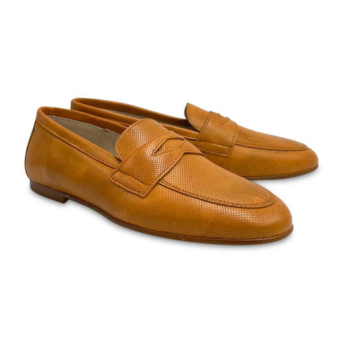 HOO Camel Wessex Leatherl Penny Loafer