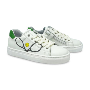 Atlanta Moccasin White Tennis Lace Sneaker 18295