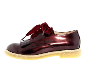 Acebos Burgundy Pantent Leather Fringe Oxford
