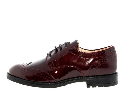 Acebos Burgundy Patent Leather Oxford