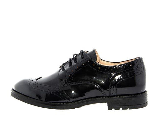 Acebos Black Patent Leather Laced Oxford