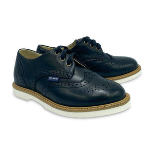 Atlanta Mocassin Black Leather Lace Oxford L554