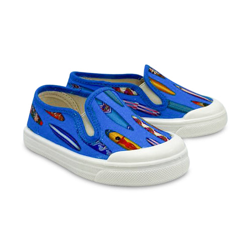 Pepe' Blue Surf Slip On Sneaker