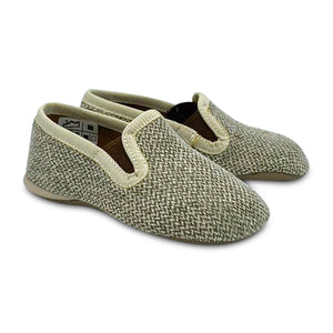 Pepe' ES X LS Taupe Olive Linen Weave Smoking Slip On 280-21