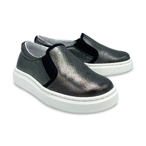 Nens Black Metallic Slip On Sneaker 3340