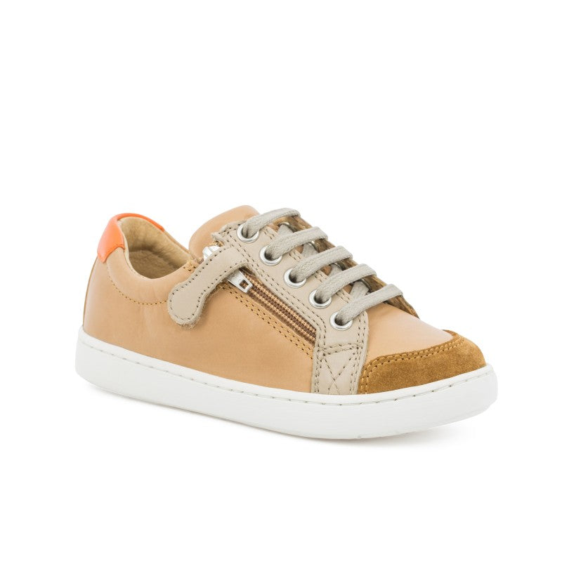 Shoo Pom Play Lo Bi Zip  Regatta Camel Beige Orange