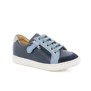 Shoo Pom Play Lo Bi Zip  Regatta Navy Jeans Grey