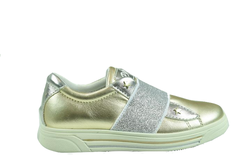 Primigi Gold and Silver Elastic Sneaker 3383911