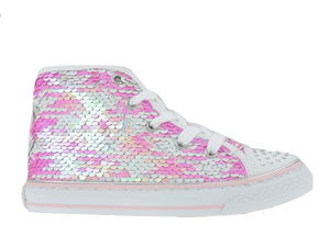 Primigi Pink Sequin High Top Sneaker 3455922
