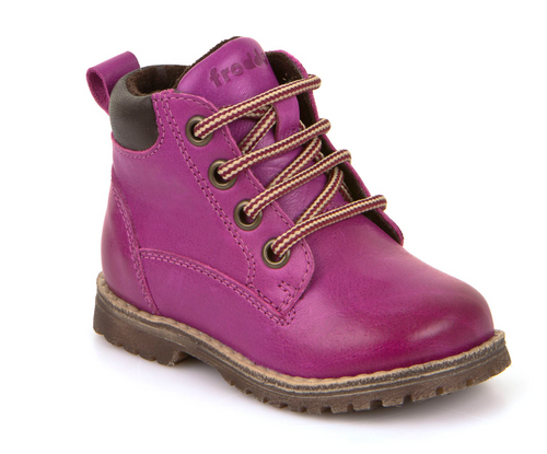 Froddo Purple Leather Side Zipper High Top First Walker G2110062