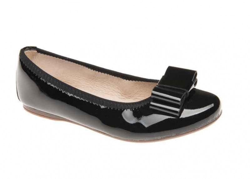 Venettini Black Ballet Flat with Bow