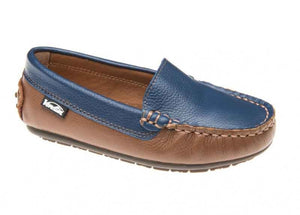 Venettini Gordy Tan Blue Slip On ** size 33  m0047
