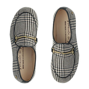 Manuela De Juan Black White Chain Loafer S2945 Final Sale
