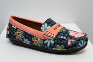Venettini Savor Hippy Print Leather Loafer Moccasin M1106