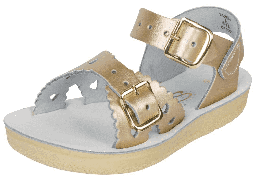 Salt Water Sweetheart Gold Sandal