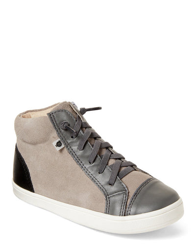 Oldsoles Grey Black High Top Sneaker 6026