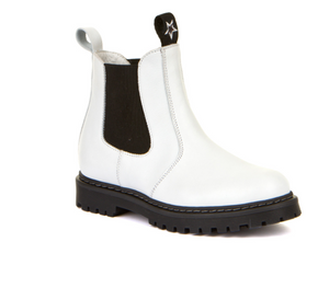 Froddo White Leather  Slip On Bootie G3160134