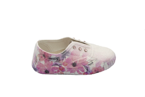 Shoe B 76 White Lavender Slip On Sneaker 30055