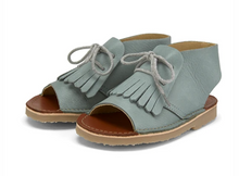 Young Soles Agnes Kilted Boot Smokey Sage Sandal