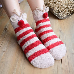 Red White Stripe Socks