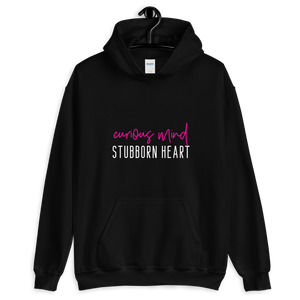 Curious Mind Stubborn Heart Hoodie - Mystical Berries
