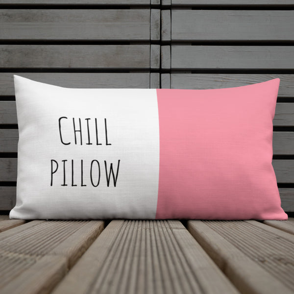 Chill Pink & White Pillow - Mystical Berries