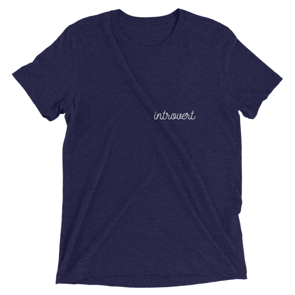 Introvert Tri-Blend Slim Fit Athletic Tee Shirt - Mystical Berries