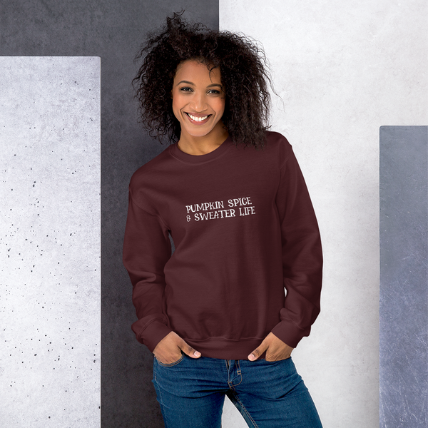 Pumpkin Spice & Sweater Life Sweatshirt - Mystical Berries