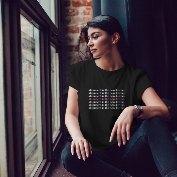 Alignment Is The New Hustle Women's Tee - Mystical Berries